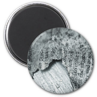 Background Themed, A Piece Of Black And White Rag 6 Cm Round Magnet