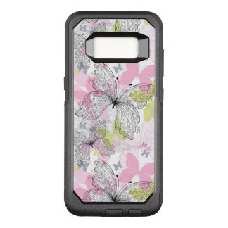 Background with butterfly OtterBox commuter samsung galaxy s8 case