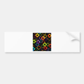 Background with colorful squares bumper sticker