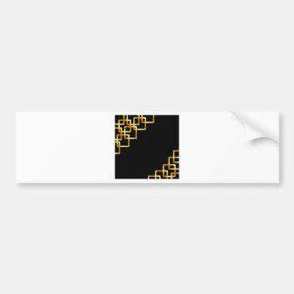 Background with golden squares bumper sticker