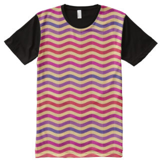 Background with stripes in retro 3 All-Over print T-Shirt