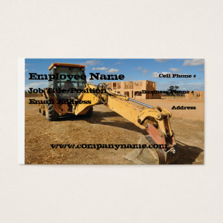 Backhoe Construction Business Card Template