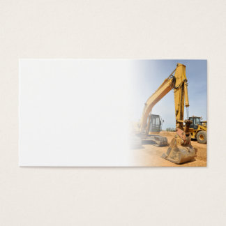 backhoe construction equipment business card