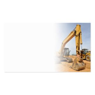 backhoe construction equipment business cards