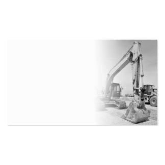 backhoe construction equipment in black/white pack of standard business cards