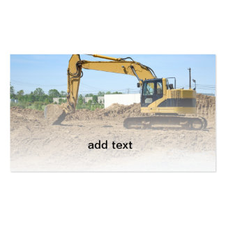 backhoe construction equipment pack of standard business cards