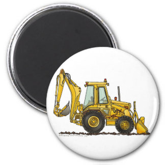 Backhoe Digger Loader Construction Magnets