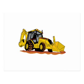 Backhoe Loader Postcard