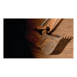 backhoe part of construction equipment business cards