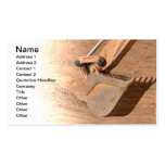 backhoe part of construction equipment pack of standard business cards