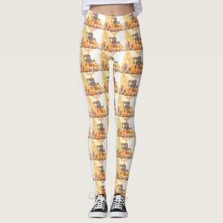 Backhoe Patterned Leggings