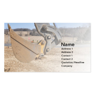 backhoe scoop business cards