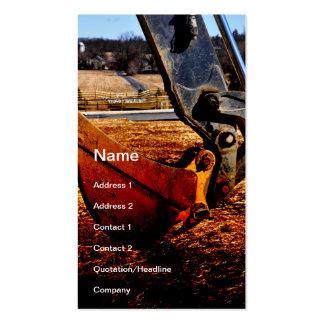 backhoe scoop pack of standard business cards