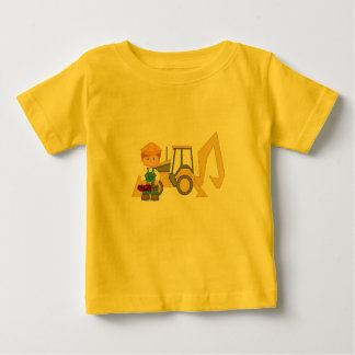 Backhoe Tractor Baby T-Shirt