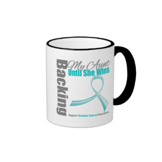 Backing My Aunt Ovarian Cancer Ringer Mug