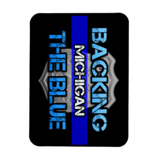 Backing the Blue Michigan Magnet