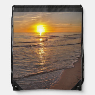 BackPack: Sunset by the Beach Drawstring Bag