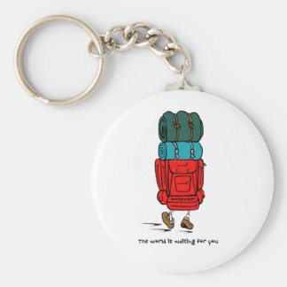 Backpacker Basic Round Button Key Ring