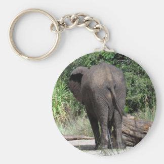 Backside of Elephant Basic Round Button Key Ring