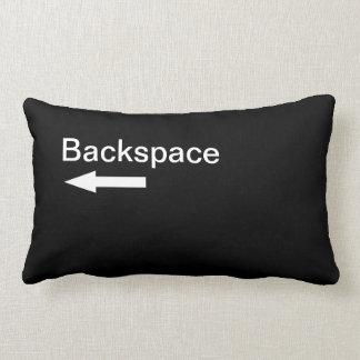 Backspace Computer Key (Black) Lumbar Cushion