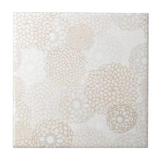 Backsplash Floral Small Square Tile