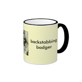 backstabbing badger coffee mug