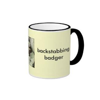 backstabbing badger ringer mug