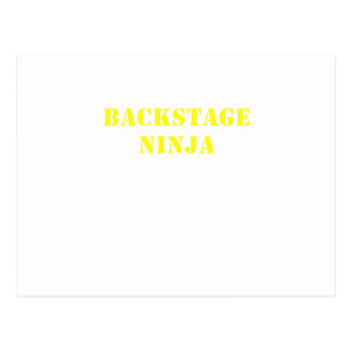 Backstage Ninja Postcard