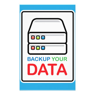 Backup Your Data Sign with hard drives Stationery Design