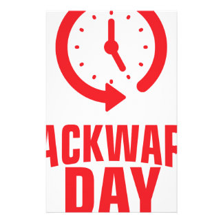 Backward Day - Appreciation Day Stationery