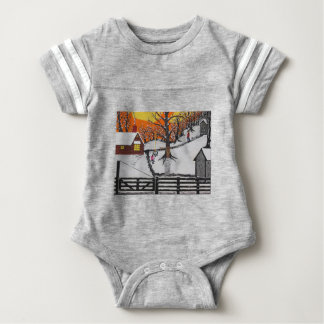Backwoods Cabin Baby Bodysuit