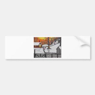 Backwoods Cabin Bumper Sticker