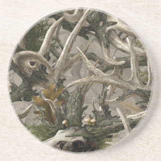 Backwoods deer skull camo coaster