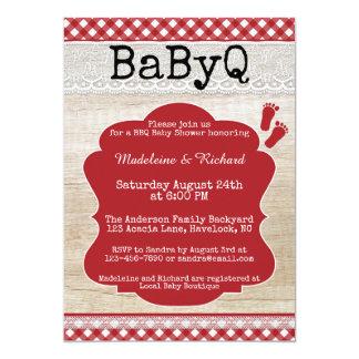 Backyard BBQ Couples Baby Shower Invitation