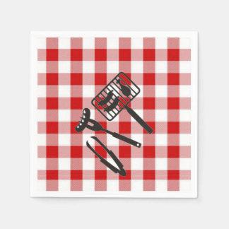 Backyard BBQ Father's Day Party Paper Napkins