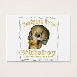 Backyard Burn Whiskey Business Card