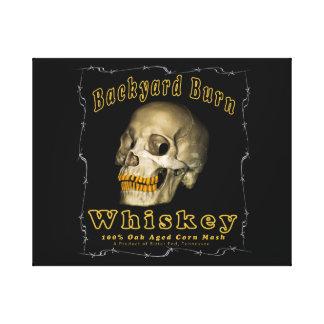 Backyard Burn Whiskey Canvas Print