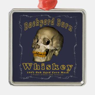 Backyard Burn Whiskey Metal Ornament
