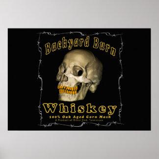 Backyard Burn Whiskey Poster