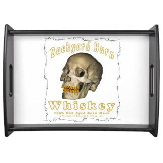Backyard Burn Whiskey Serving Tray