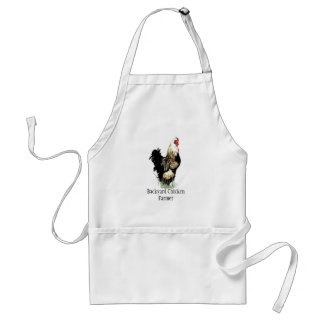 Backyard Chicken Farmer Quote  Rooster Design Standard Apron
