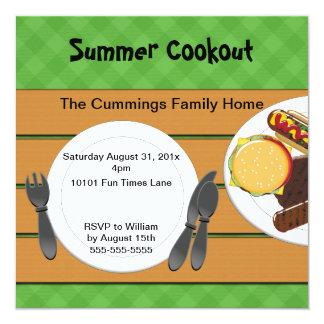 Backyard Cookout Invitation