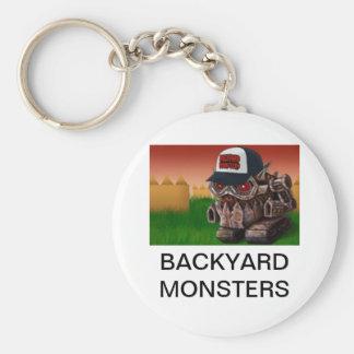BACKYARD MONSTERS BASIC ROUND BUTTON KEY RING