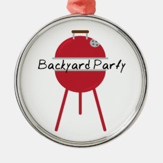 Backyard Party Christmas Ornaments