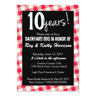 Backyard Picnic Anniversary Invitation Template