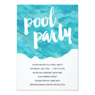 Backyard Splash | Pool Party 13 Cm X 18 Cm Invitation Card