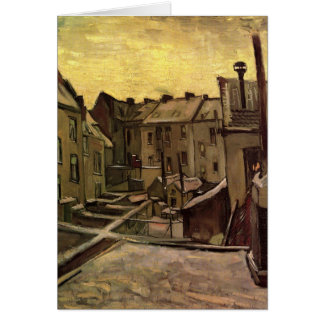 Backyards of Old Houses by Vincent van Gogh Card