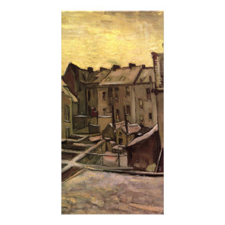 Backyards of Old Houses in Antwerp by van Gogh Customized Photo Card