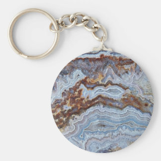 Bacon Agate Pattern Key Ring