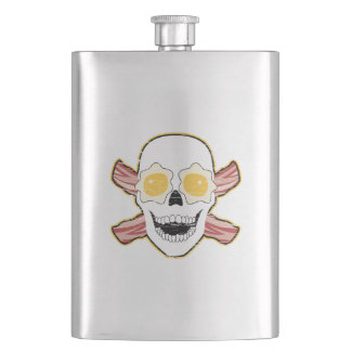 Bacon and Egg Skull Flask